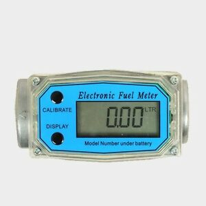 1pc Turbine Digital Diesel Fuel Flow Meter 1 10 200l min