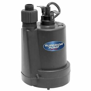 Submersible Water Utility Pump 1 4 Hp Thermoplastic Sump Garden Hose Adapter