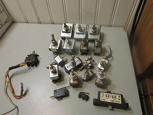 Toggle Switch Lot Of 16 Cutler Hammer Carling Gaynor