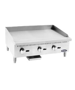 Atosa Heavy Duty Griddle 36 Inches 3 Burners Propane Atmg 36