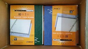 Lot Of 48 National Xtreme White Wirebound College Ruled Notebooks 80 Sheets New