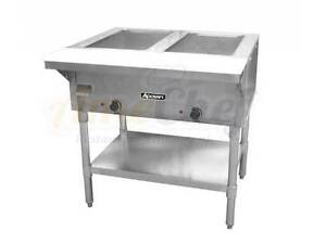 2 Bay Open Well Steam Table Electric Stainless Steel Adcraft St 120 2