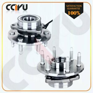 2 New Front Wheel Hubs Bearings Pair Set W Abs For Chevy Gmc Truck 4x4 4wd Awd