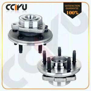 Front Wheel Hub Bearing Set Of 2 For Ford Explorer Aviator 2002 2005 With Abs