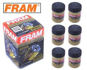 6 Pack Fram Ultra Synthetic Oil Filter Top Of The Line Fram S Best Xg3675