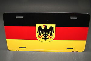German Flag Metal Novelty License Plate Tag Deutschlandfahne Bundesflagge