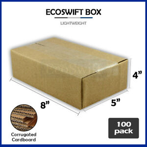 100 8x5x4 Cardboard Packing Mailing Moving Shipping Boxes Corrugated Box Cartons