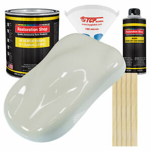 Arctic White Gallon Kit Single Stage Acrylic Enamel Car Auto Paint Kit