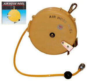 25 Retractable Retracting 1 4 Air Hose Reel Workshop Tools Compressor Airbrush