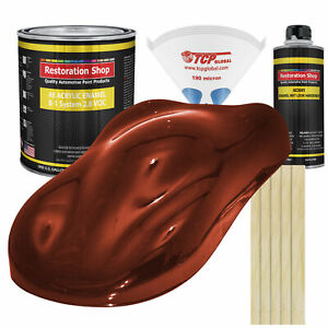 Firethorn Red Pearl Gallon Kit Single Stage Acrylic Enamel Car Auto Paint Kit