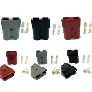 Anderson Sb50 Connector Set Cable Wire Quick Connect Battery Plug Kit