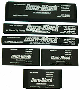 Dura Block 6pc Kit Hand Sanding Sander Wet Sand Car Paint Af44a