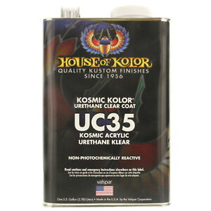 1 Gallon Kosmic Acrylic Urethane Klear House Of Kolor Hok Uc35 Topcoat Clear