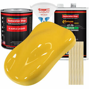 Boss Yellow Gallon Kit Single Stage Acrylic Lacquer Car Auto Paint Kit