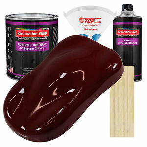 Burgundy Gallon Kit Single Stage Acrylic Urethane Car Auto Body Paint Kit