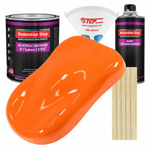 California Orange Gallon Kit Single Stage Acrylic Urethane Car Auto Paint Kit