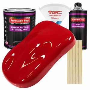 Torch Red Gallon Kit Single Stage Acrylic Urethane Car Auto Body Paint Kit