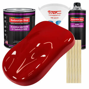 Victory Red Gallon Kit Single Stage Acrylic Urethane Car Auto Body Paint Kit