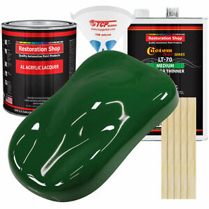 Speed Green Gallon Kit Single Stage Acrylic Lacquer Car Auto Paint Kit