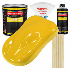 Indy Yellow Gallon Kit Single Stage Acrylic Enamel Car Auto Paint Kit