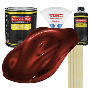 Fire Red Pearl Gallon Kit Single Stage Acrylic Enamel Car Auto Paint Kit