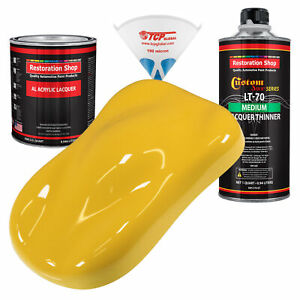 Boss Yellow Quart Kit Single Stage Acrylic Lacquer Car Auto Body Paint Kit