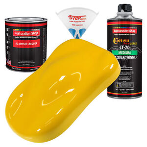 Viper Yellow Quart Kit Single Stage Acrylic Lacquer Car Auto Body Paint Kit
