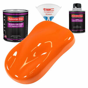 Omaha Orange Quart Kit Single Stage Acrylic Urethane Car Auto Body Paint Kit