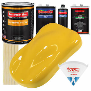 Boss Yellow Gallon Urethane Basecoat Clearcoat Car Auto Paint Kit