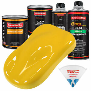 Indy Yellow Premium Quart Urethane Basecoat Clearcoat Car Auto Paint Kit