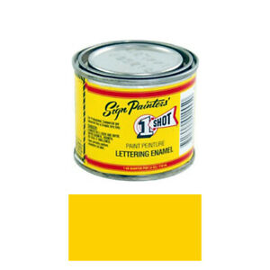 1 4 Pint 1 Shot Chrome Yellow Paint Lettering Enamel Pinstriping One Shot