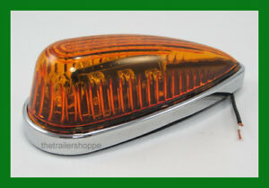 Cab Roof Clearance Marker Teardrop Amber Led Lights Ford Chevy Dodge Pick Up