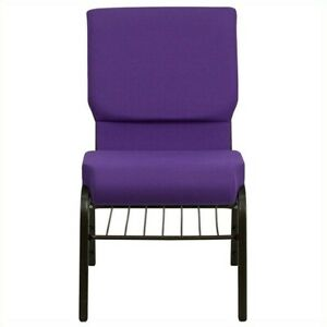 Flash Furniture Hercules Church Stacking Guest Chair In Purple