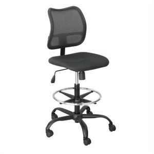 Safco Vue Extended Height Mesh Drafting Chair In Black