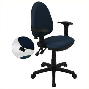 Flash Furniture Mid back Task Office Chair With Arms In Navy Blue