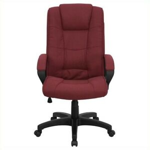 Flash Furniture High Back Executive Office Chair In Burgundy