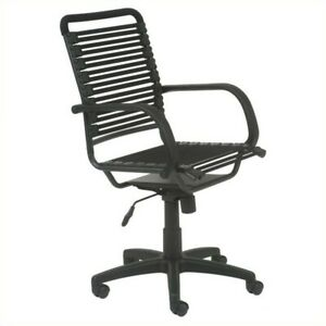 Office Chair For Computer Desk Executive Task Flat High Back Modern In Black