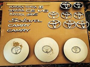 Toyota Badges Lot Of 22 Pieces Used