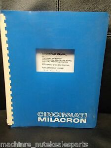 Cincinnati Milacron Operating Manual Sabre arrow Series Vmc 91202981 1995
