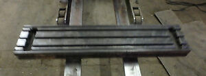 42 X 9 X 4 Steel Weld 3 T slotted Table Cast Iron Layout Plate Jig 3 Slot
