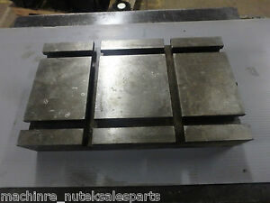 14 X 8 X 2 1 4 Steel Weld T slotted Table Cast Iron Layout Plate Weld 2 Slot