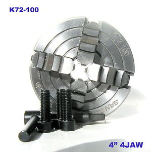 1 Pc Lathe Chuck 4 4jaw Independent Reversible Jaw K72 100 Sct 888