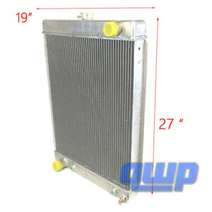 1930 1950 Ford Hot Rod Universal Aluminum Radiator 2 Rows 27 x 19 X 3 New
