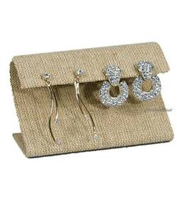 Earring Display Stand Curved Earring Stand Burlap Stand Wide Earring Holder 4 w