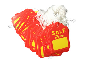100pc Sale Price Tags Red Yellow Tags W String Merchandise Garment Hanging Tags