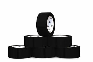 Black Floor Marking Pvc Safety Tapes 2 X 36 Yds 7 Mil Thick 24 Rls