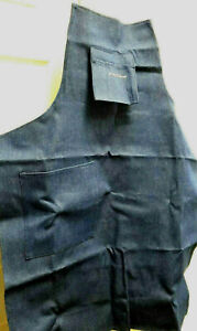 Work Apron Professional Blue Denim Shop Machinist Tool Die Maker 1015 Dd