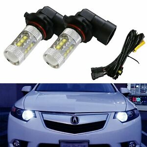 8k Blue 80w 16 cree 9005 Led High Beam Daytime Running Light Kit For Acura Honda