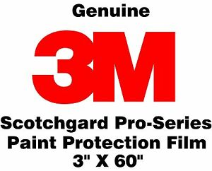 3m Scotchgard Pro Series Paint Protection Film Clear Bra Bulk Roll 3 X 60