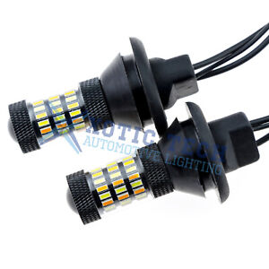 Dual Color 7440 Switchback Led Bulbs For Daytime Running Lights Drl turn Signal